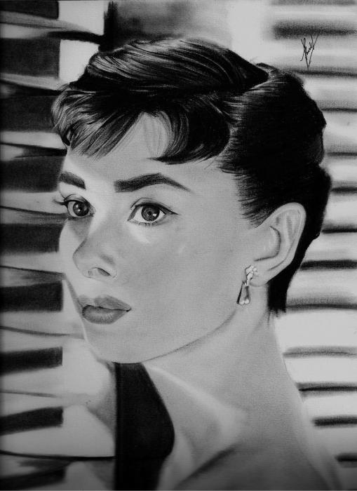 Audrey Hepburn por dnieltsk